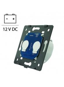 Wkład podwójnego włącznika dotykowego LIVOLO WW-C701C 12-24V DC