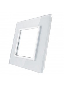 Pojedyncza szklana ramka LIVOLO GPF-1|Biały