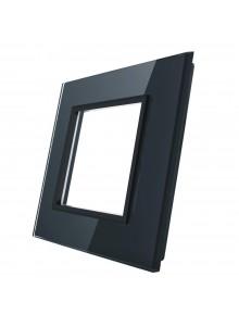 Pojedyncza szklana ramka LIVOLO GPF-1|Czarny