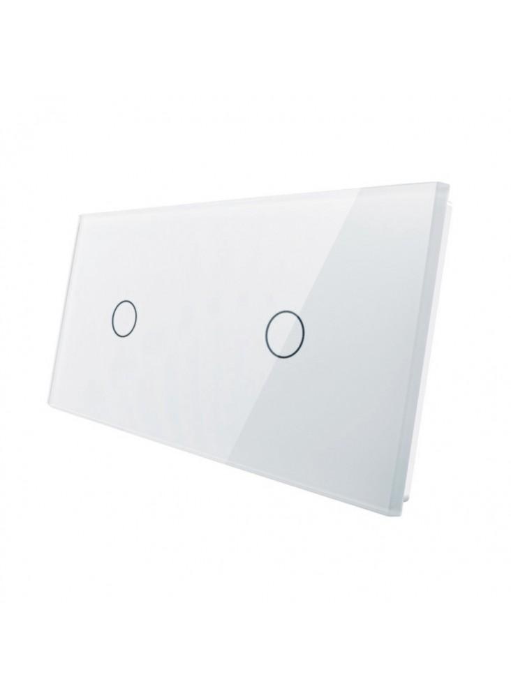 Podwójny panel szklany LIVOLO 7011 | Biały