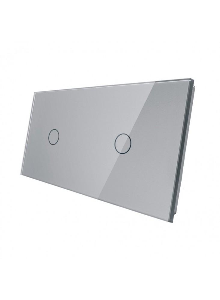 Podwójny panel szklany LIVOLO 7011 | Szary