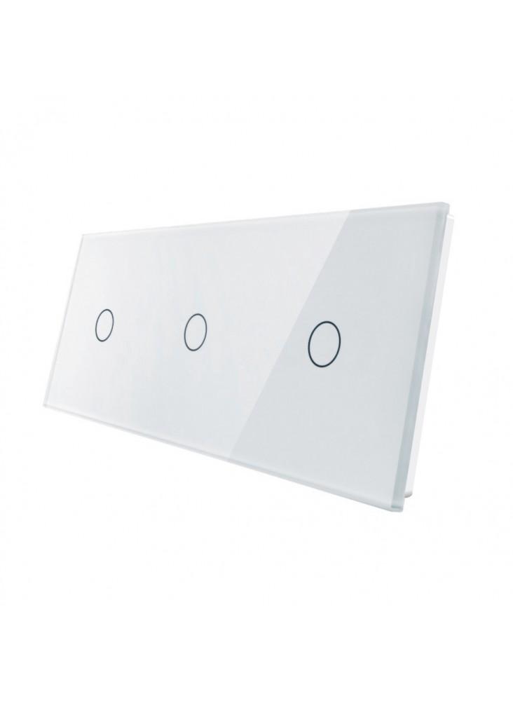Podwójny panel szklany LIVOLO 70111   Biały