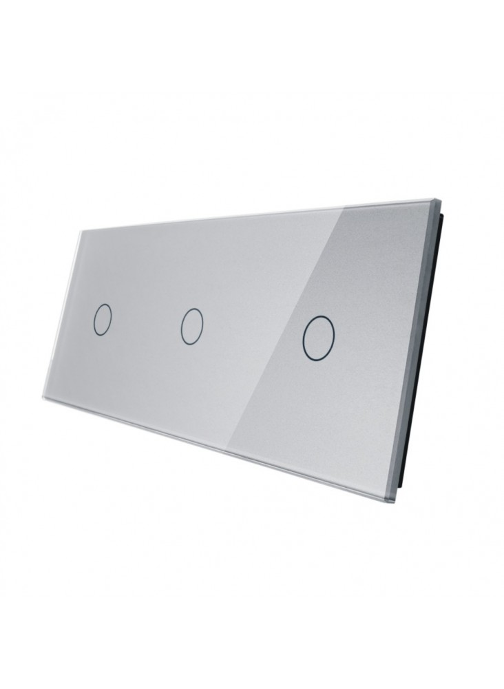 Podwójny panel szklany LIVOLO 70111   Szary