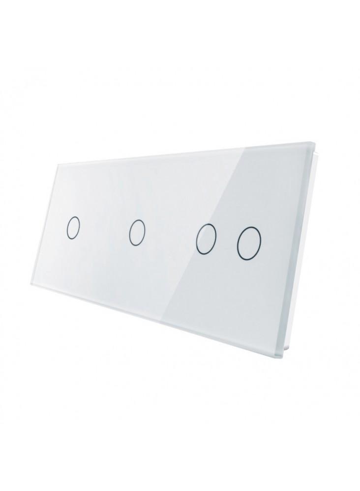 Potrójny panel szklany LIVOLO 70112 | Biały