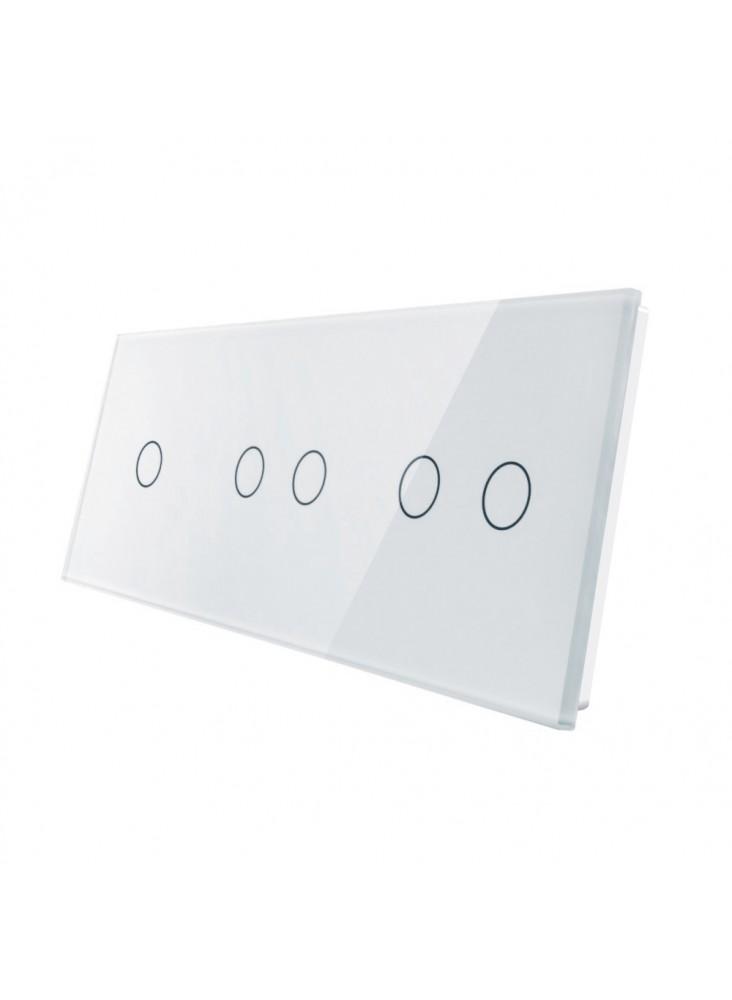 Potrójny panel szklany LIVOLO 70122   Biały