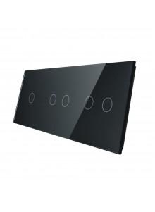 Potrójny panel szklany LIVOLO 70122 | Czarny