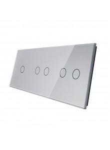 Potrójny panel szklany LIVOLO 70122 | Szary