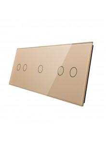 Potrójny panel szklany LIVOLO 70212 | Szampański