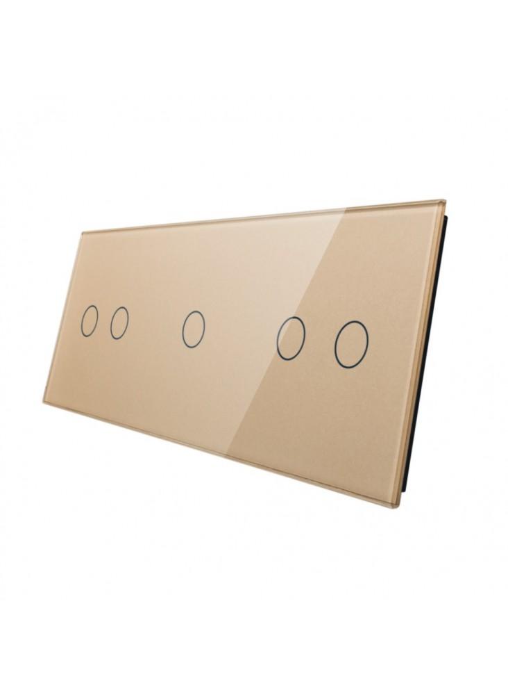 Potrójny panel szklany LIVOLO 70212   Szampański