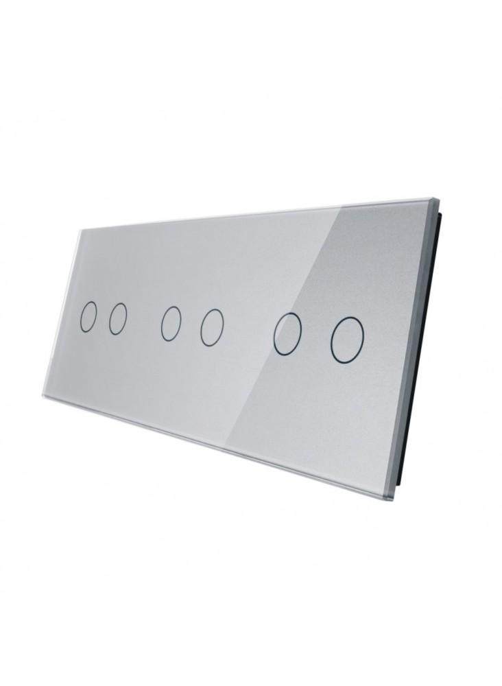 Potrójny panel szklany LIVOLO 70222 | Szary