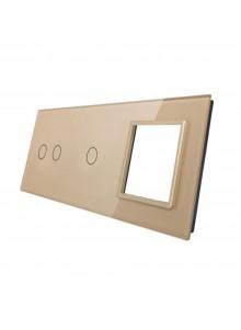 Potrójny panel szklany LIVOLO 7021G | Szampański