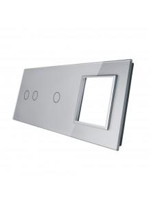 Potrójny panel szklany LIVOLO 7021G | Szary