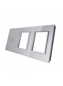 Potrójny panel szklany LIVOLO 701GG | Szary