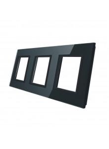 Potrójna ramka szklana GPF-3 | Czarny