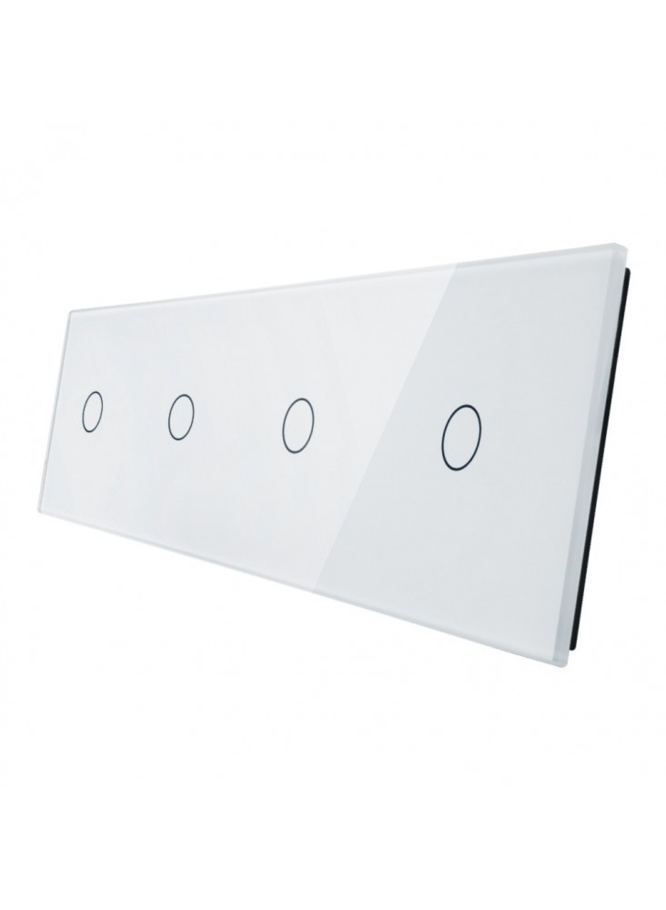 Poczwórny panel szklany LIVOLO 701111 | Biały