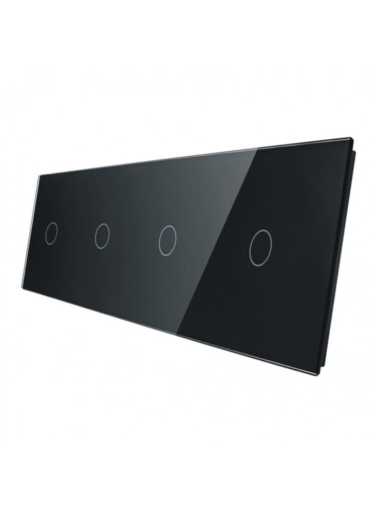 Poczwórny panel szklany LIVOLO 701111 | Czarny