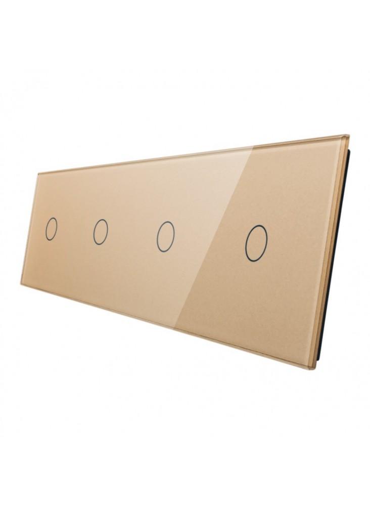 Poczwórny panel szklany LIVOLO 701111   Szampański