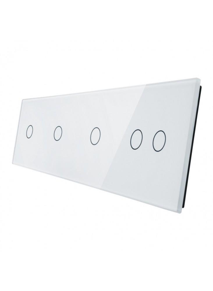 Poczwórny panel szklany LIVOLO 701112 | Biały