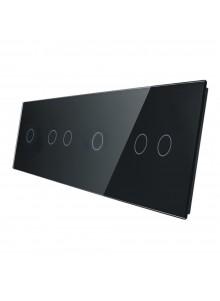 Poczwórny panel szklany LIVOLO 701212 | Czarny