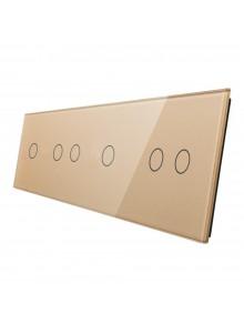 Poczwórny panel szklany LIVOLO 701212 | Szampański