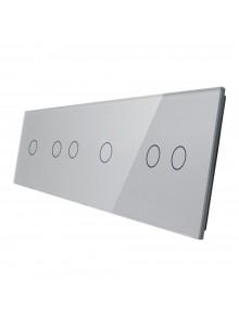 Poczwórny panel szklany LIVOLO 701212 | Szary