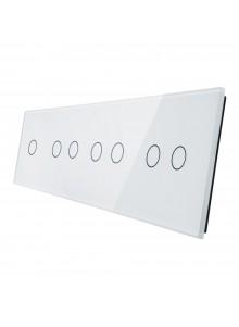 Poczwórny panel szklany LIVOLO 701222 | Biały
