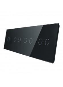 Poczwórny panel szklany LIVOLO 701222 | Czarny