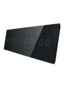 Poczwórny panel szklany LIVOLO 702222 | Czarny
