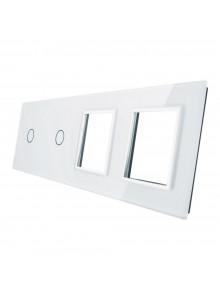 Poczwórny panel szklany LIVOLO 7011GG | Biały