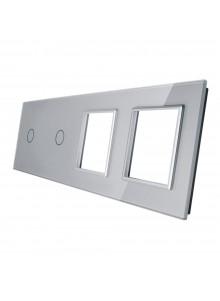 Poczwórny panel szklany LIVOLO 7011GG | Szary
