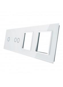 Poczwórny panel szklany LIVOLO 7012GG | Biały