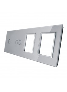 Poczwórny panel szklany LIVOLO 7012GG | Szary