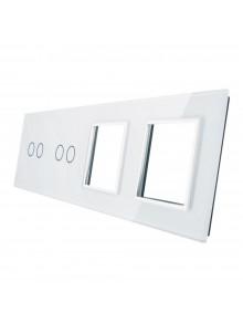 Poczwórny panel szklany LIVOLO 7022GG | Biały