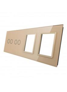Poczwórny panel szklany LIVOLO 7022GG | Szampański