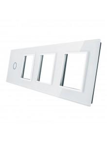 Poczwórny panel szklany LIVOLO 701GGG | Biały