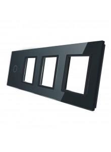 Poczwórny panel szklany LIVOLO 701GGG | Czarny
