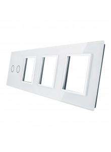 Poczwórny panel szklany LIVOLO 702GGG | Biały