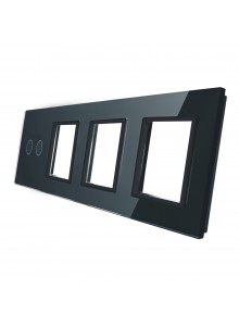 Poczwórny panel szklany LIVOLO 702GGG   Czarny
