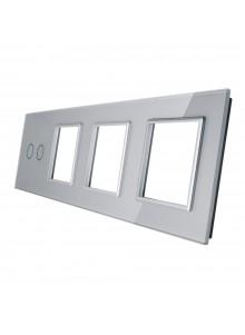 Poczwórny panel szklany LIVOLO 702GGG | Szary