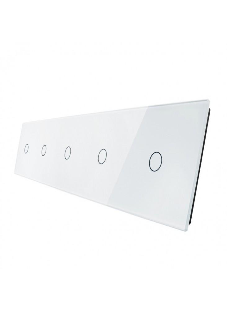 Pięciokrotny panel szklany LIVOLO 7011111 | Biały
