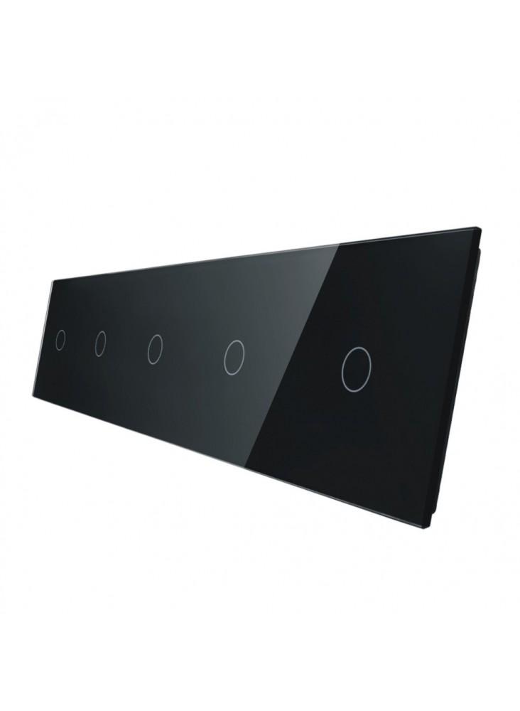 Pięciokrotny panel szklany LIVOLO 7011111 | Czarny