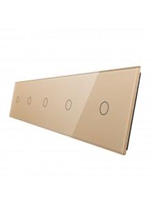 Pięciokrotny panel szklany LIVOLO 7011111 | Szampański