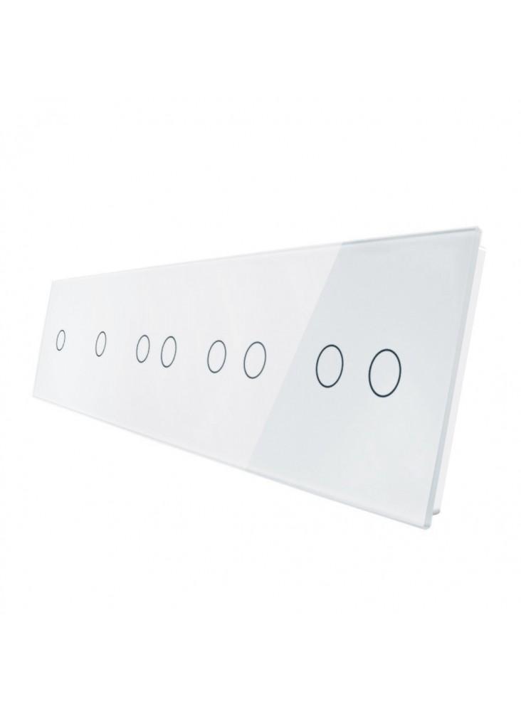 Pięciokrotny panel szklany LIVOLO 7011222 | Biały