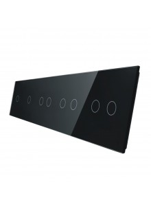 Pięciokrotny panel szklany LIVOLO 7011112 | Czarny