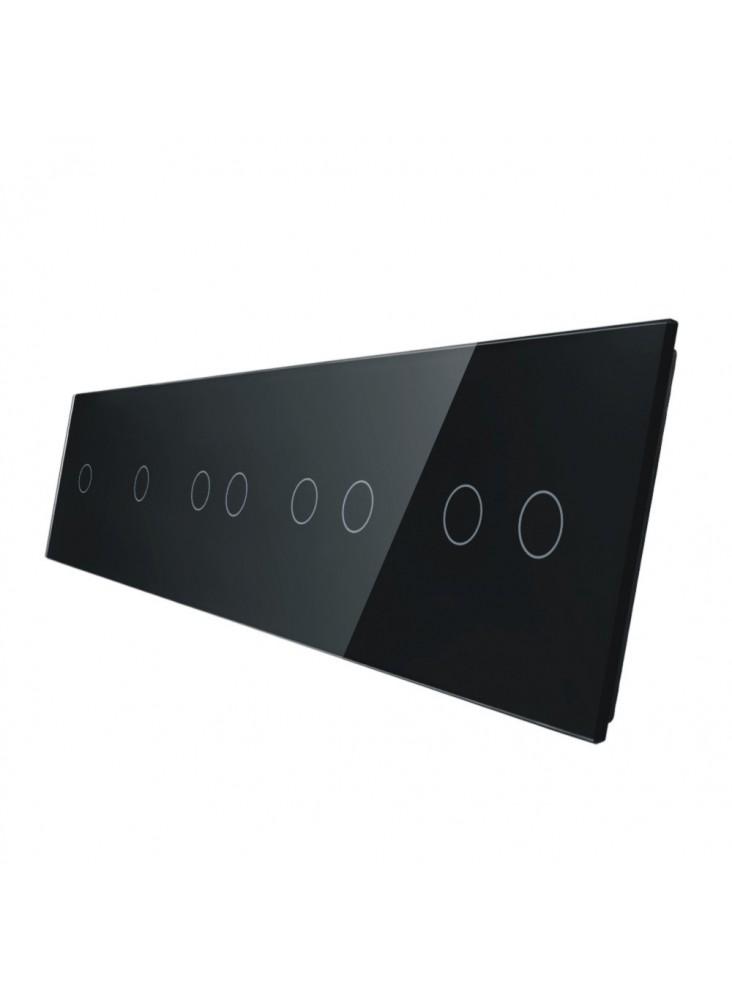 Pięciokrotny panel szklany LIVOLO 7011112   Czarny