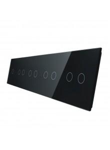 Pięciokrotny panel szklany LIVOLO 7012222 | Czarny