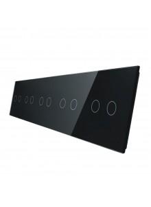Pięciokrotny panel szklany LIVOLO 7022222 | Czarny