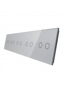 Pięciokrotny panel szklany LIVOLO 7022222 | Szary