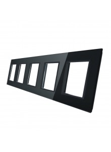 Pięciokrotna ramka szklana LIVOLO GPF-5 | Czarny
