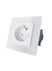 Gniazdo wtykowe schuko 230V Livolo | Biały